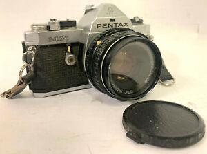 Asahi Pentax MX 35mm Film Body with Pentax SMC 50mm 1:2 Lens, Cap, & Filter