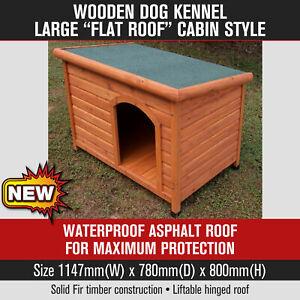 Wooden Dog Kennel Pet Cat Puppy Kennels Waterproof Outdoor Pet House Cabin LARGE