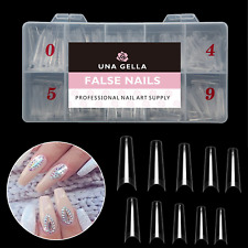 New ListingClear Acrylic Nail Tips500pcs Artificial Ballerina Shaped Half Cover10 Sizes