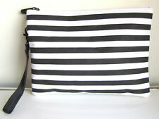 New Latam Airlines First Class Amenity White & Black Cosmetics Bag (Bag Only)