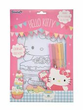 HELLO KITTY Poster Colouring Set A4 Posters & Felt Pens