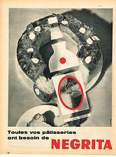 PUBLICITE ADVERTISING 025  1957  NEGRITA   rhum pour patisseries