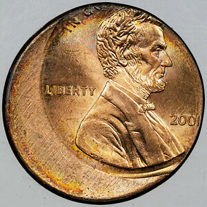 2001 LINCOLN MEMORIAL CENT ERROR OFF CENTER REMARKABLE SELECT