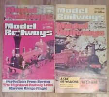 4 Model Railways Vintage Magazines March + July 1979 + Aug + September 1978