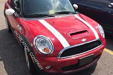 x2 Hood Decals Sport Racing Plain Stripes Fits mini cooper hood graphics 1 color
