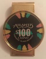 Atlantis Casino Paradise Island, Bahamas $100 Casino Chip Money Clip