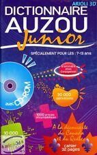 DICTIONNAIRE AUZOU JUNIOR ENFANT DE 7-13 ANS SECTION SPÉCIALE CANADA QUÉBEC NEUF