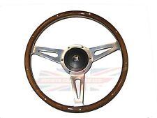 "New 14"" Laminated Wood Steering Wheel & Hub Adaptor Triumph GT6 Spitfire to 1977"