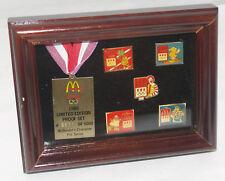 VINTAGE 1988 MCDONALDS SPONSOR CHARACTER COLLECTOR PIN OLYMPICS PROOF SET