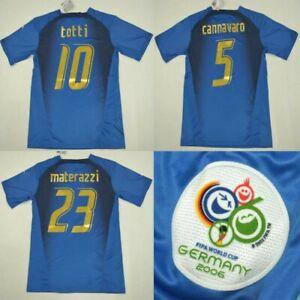 Maglia italia mondiale 2006 del Piero Totti Pirlo Cannavaro Grosso De Rossi