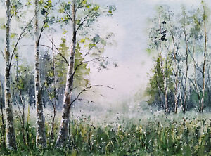 Aquarellbild Original 24x32 cm, Landschaft