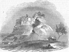 INDIA. West Gate of Powanghur, antique print, 1845