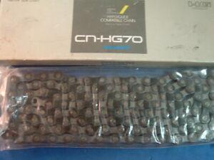 Shimano HG70 HG/UG Index Chain NEW / NOS Vintage-5 to 8-Spd-NIB- 116L- Mint
