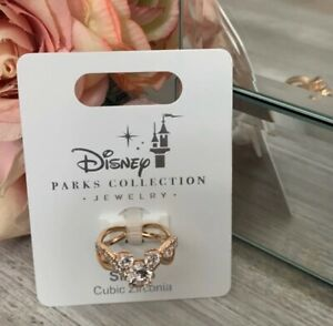 Disney Parks Collections Rose Gold Mickey Icon Ring  Size 7