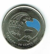 Canada - 25 cent 2011 - Orca Whale colored - Circulated