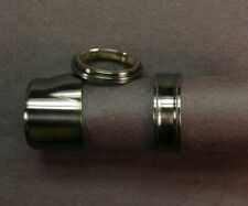 Fly Rod Reel Seat blued nickel silver pocketed cap & ring hardware