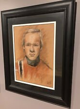 """Mesmerising Portrait Of Unknown Man By Artist M.Warneford """"A Trois Couleurs"""""""