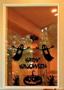 Halloween Spooky Window Kit Door Sticker Decals Trick or Treat H90