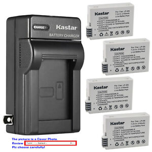 Kastar Battery Wall USB Charger for Canon LP-E8 LC-E8 Canon EOS Rebel T3i Camera