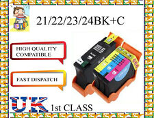 6 COMPATIBLE Dell 21/22/23/24 BK+C INK CARTRIDGE FOR DELL NONORIGINAL