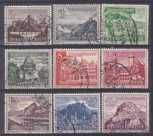 DR  Briefmarken Satz 01 Mi. 730- 738 WHW Bauwerke  gestempelt