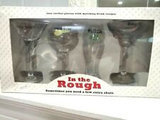 "New! Santa Barbara Design Studio ""In the Rough"" Four Golf Cordial Glasses"