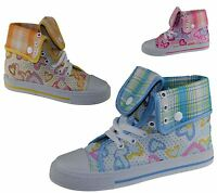 Girls Fancy Ankle Boots Infants Wedding Party Xmas High Tops Trainers Shoes Size