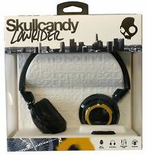 Skullcandy Navy & Gold Lowrider Wired Headphones with Microphone