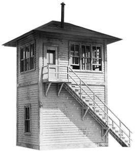 "HO Scale - Interlocking Tower  ""LASER CUT WOOD Building KIT"" AME-702"