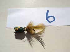 Vintage Wooden Lure Petite with Feathers (#6)