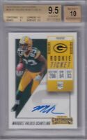 Marquez Valdes Scantling 2018 Contenders Rookie Ticket Rc Auto Bgs 9.5/10