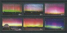 zealand 2017 zelande Southern Lights sky Aurora Australis astronomy 6v mnh **