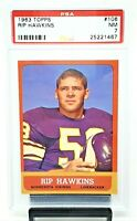 1963 Topps Minnesota Vikings RIP HAWKINS Vintage Football Card PSA 7 NEAR MINT!