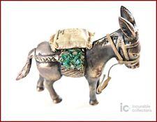Handmade Bronze Donkey Carrying Emeralds & Coffee Figurine/ Colombia