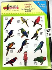 Amazing Designs Embroidery Software Colorful Birds 20 Jumbo Designs