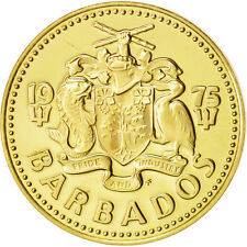 [#414693] Barbados, 5 Cents, 1975, Franklin Mint, MS(65-70), Brass, KM:11