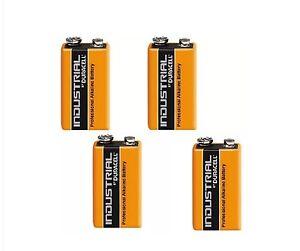 2 Duracell 9V PP3 Industrial Pro cell Batteries Smoke Alarm LR22 E-BLOC MN1604