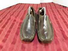 Clark's England Brown Leather Slip-On Loafers Fashion Casual Men Size 10 US