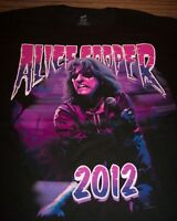 ALICE COOPER 2012 TOUR VIP T-Shirt 2XL XXL NEW