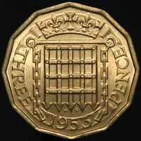 1953   Elizabeth II Threepence   Nickel-Brass   Coins   KM Coins