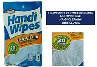 HEAVY DUTY HANDY CLOTHS  MULTIPURPOSE ABSORBENT REUSABLE CLEANING TOWELS BLUE