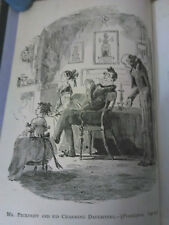 """Martin Chuzzlewit, Dickens.  illustrations by H.K. Browne (""""Phiz""""). 1875"""