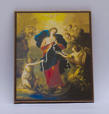 Mary, Undoer of Knots, Painting by Johann Georg Schmidtner, print canvas with ha
