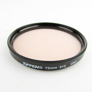 Tiffen 72mm 812 Warming Filter Screw on glass lens fit