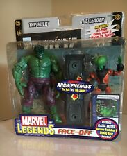 Marvel Legends Face-Off THE HULK Vs LEADER Action Figures Arch-Enemies Toybiz