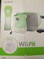 Video Game Wii Fit Kit Hands Free Pouch Controller Green Remote Jacket Hat New