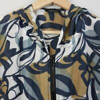 [ SAKAGUCHI New Zealand ] Womens Hooded zip up Print Top | Size AU 10