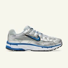Nike P-6000 Grey Silver And White And Blue Trainers Size 7 EU 41 unisex