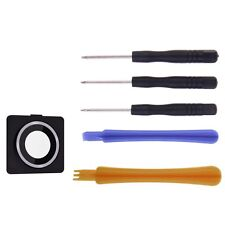 Rear Camera Lens Cover Frame Glass Ring Replacement Back for iPhone 4 & Tools