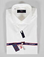 Camicia bianca No Stiro Ingram Cottonstir Slim Fit cotone lavorato taglia 41-L